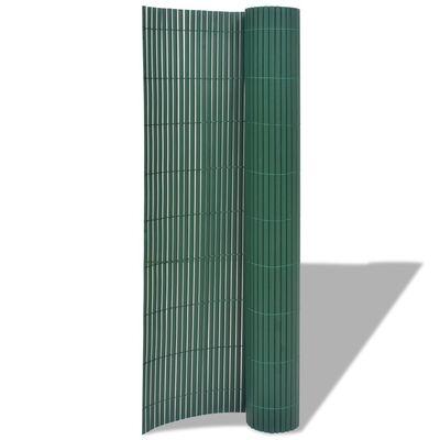 vidaXL Gartenzaun Doppelseitig PVC 90×300 cm Grün