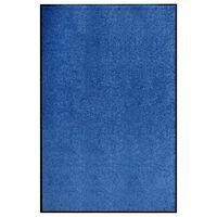 vidaXL Fußmatte Waschbar Blau 120x180 cm
