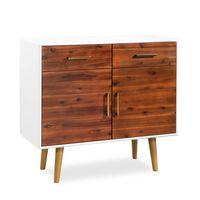 vidaXL Sideboard Akazienholz Massiv 90 x 33,5 x 83 cm