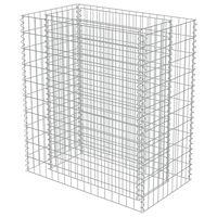 vidaXL Gabionen-Hochbeet Verzinkter Stahl 90×50×100 cm