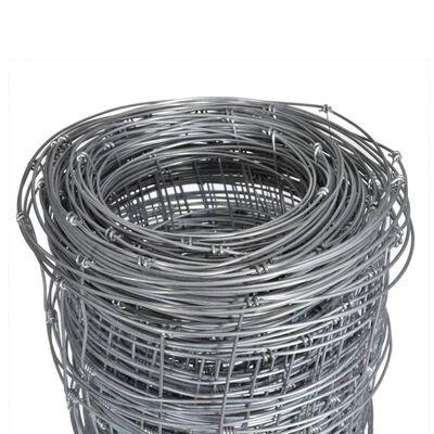 vidaXL Gartenzaun Verzinkter Stahl 50x1,6 m Silbern