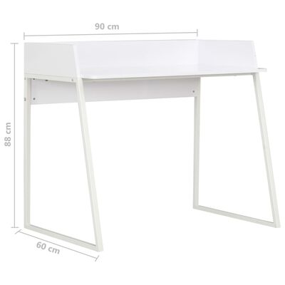 vidaXL Schreibtisch Weiß 90x60x88 cm