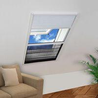 vidaXL Insektenschutz-Plissee für Fenster Alu 110x160 cm mit Jalousie
