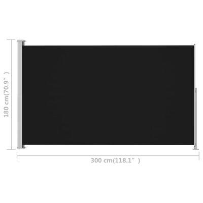 vidaXL Ausziehbare Seitenmarkise 180x300 cm Schwarz