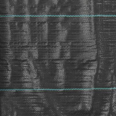 vidaXL Unkraut- und Wurzelschutzfolie PP 2 x 50 m Schwarz