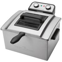 ProfiCook Doppelfritteuse 3000 W 5 L Silber PC-FR 1038