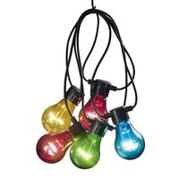 KONSTSMIDE Party-Lichterkette 10 Lampen Verlängerung-Set Mehrfarbig
