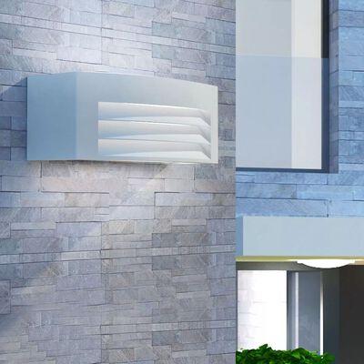 vidaXL Außenwandleuchte hellgrau Aluminium