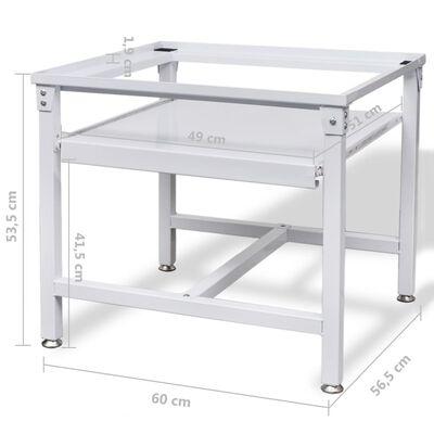vidaXL Untergestell für Waschmaschine mit Ausziehablage Weiß