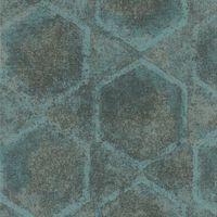 Topchic Tapete Hexagon Blau und Grau