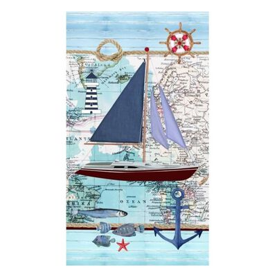 Good Morning Strandtuch AARON 100×180 cm Blau