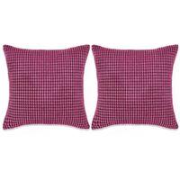 vidaXL Kissen-Set 2 Stk. Velours 60 x 60 cm Rosa