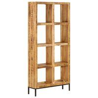 vidaXL Bücherregal 80 x 25 x 175 cm Mango Massivholz
