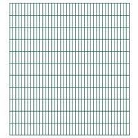 vidaXL 2D Gartenzaun-Elemente 2,008x2,23 m Gesamtlänge 14 m Grün
