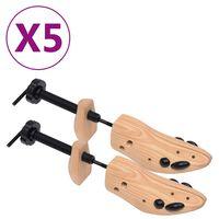 vidaXL Schuhspanner 5 Paar Größe 36-40 Kiefer Massivholz