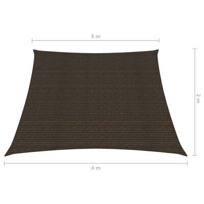 vidaXL Sonnensegel 160 g/m² Braun 3/4x2 m HDPE