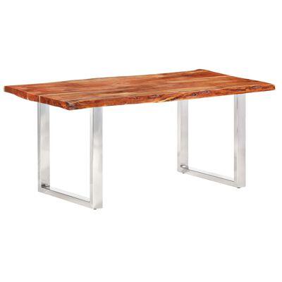 vidaXL Esstisch mit Baumkanten Akazie Masivholz 200 cm 6 cm