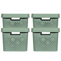 Curver Infinity Aufbewahrungsboxen 4 Stk. mit Deckel 11+17 L Grün