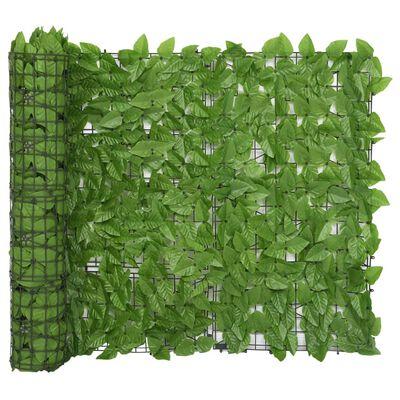 vidaXL Balkon-Sichtschutz mit Grünen Blättern 500x100 cm