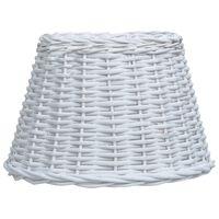 vidaXL Lampenschirm Korbweide 30 x 20 cm Weiß