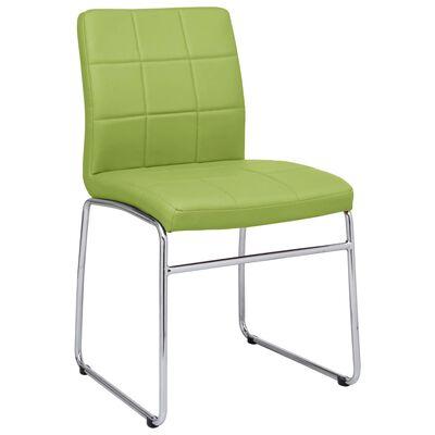 vidaXL Esszimmerstühle 6 Stk. Grün Kunstleder