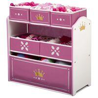 Delta Children Spielzeug-Organizer Princess Crown Weiß und Rosa