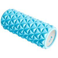 Pure2Improve Yoga-Roller 33×14 cm Blau und Weiß