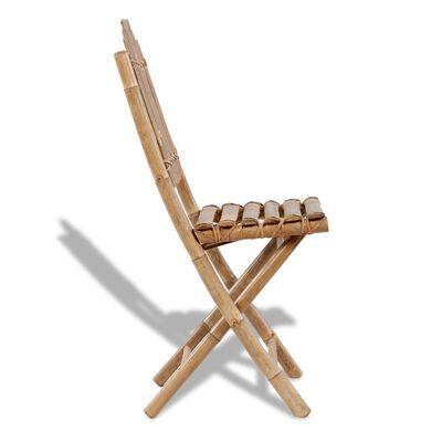 vidaXL Gartenstühle Klappbar 2 Stk. Bambus