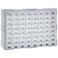 vidaXL Multi-Schubladen-Organizer mit 64 Schubladen 52x16x37,5 cm