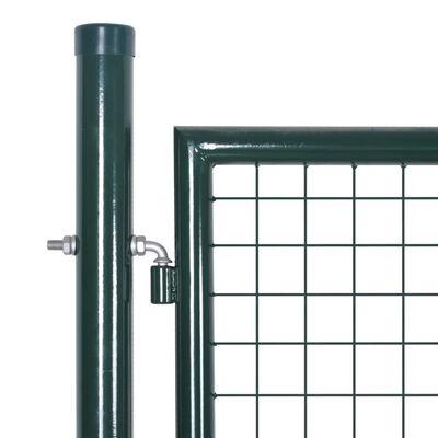 vidaXL Gartenzaun Tor 289x100 cm/306x150 cm Stahl Grün