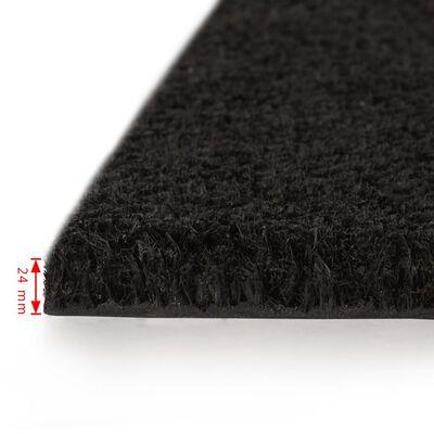 vidaXL Fußmatte Kokosfaser 24 mm 100 x 150 cm Schwarz