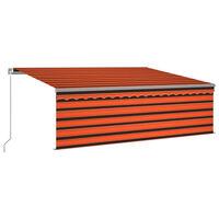 vidaXL Gelenkarmmarkise Einziehbar mit Volant 4,5x3 m Orange und Braun