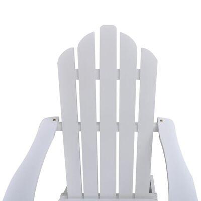 vidaXL Gartensessel mit Fußstütze Holz Weiß