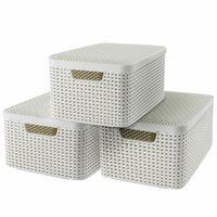 Curver Style Aufbewahrungsbox mit Deckel 3 Stk. M Weiß 240654