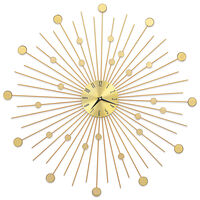 vidaXL Wanduhr Metall 70 cm Golden