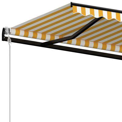 vidaXL Automatische Markise mit LED & Windsensor 450x300 cm Gelb/Weiß