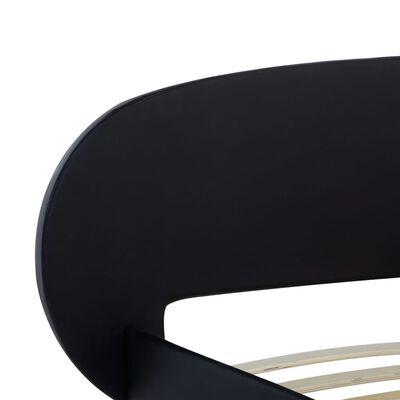 vidaXL Bettgestell Schwarz Kunstleder 140×200 cm