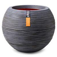 Capi Vase Nature Rib Kugelform 62x48 cm Dunkelgrau