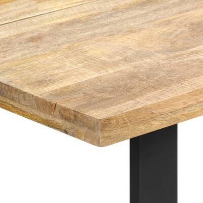 vidaXL Esstisch 160 x 80 x 75 cm Mangoholz Massiv