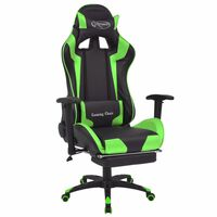 vidaXL Bürostuhl Gaming-Stuhl Neigbar mit Fußstütze Grün