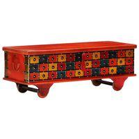 vidaXL Aufbewahrungstruhe Rot 110 x 40 x 40 cm Massivholz Akazie