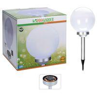 ProGarden LED-Solarleuchte Ball 25 cm Weiß