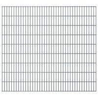 vidaXL 2D Gartenzaun-Elemente 2,008x1,83 m Gesamtlänge 8 m Grau