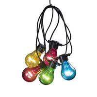 KONSTSMIDE Party-Lichterkette mit 10 Lampen Mehrfarbig