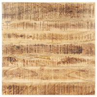 vidaXL Tischplatte Massivholz Mango 25-27 mm 80x80 cm
