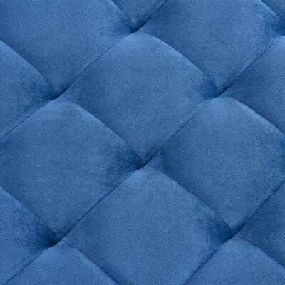 vidaXL Bank 97 cm Blau Samt und Edelstahl