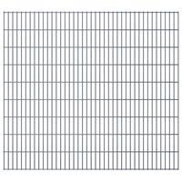 vidaXL 2D Gartenzaun-Elemente 2,008x1,83 m Gesamtlänge 16 m Grau
