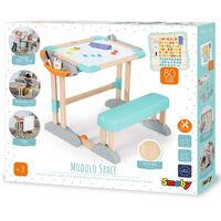 Smoby 80-tlg. 2-in-1 Kinderschreibtisch Modulo Space