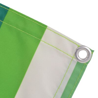 vidaXL Balkonsichtschutz Oxford-Gewebe 75×600 cm Gestreift Grün
