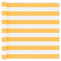 vidaXL Balkon-Sichtschutz Weiß und Gelb 90x600 cm Oxford-Gewebe